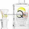 "Quantum Sci 8"" Mini Double Chandelier Perc Bong - Slyme - Retro Active Smoke Shop  - 3"