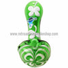 Chameleon Glass Lucky Charm Pipe - Green - Retro Active Smoke Shop  - 2