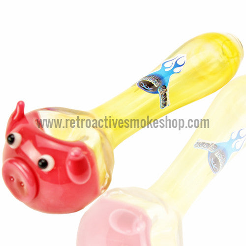 Chameleon Glass Porky Pig Hand Pipe - Retro Active Smoke Shop  - 1