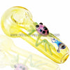 Chameleon Glass Frog Hand Pipe - Fumed