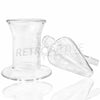 [product type] - (CLEARANCE) Sasquatch Glass Hornet's Nest Ash Catcher with Base - Retro Active Smoke Shop