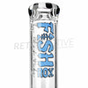 "[product type] - (CLEARANCE) Phat Tubz 22"" Fish Rox Straight Bong - Blue/White - Retro Active Smoke Shop"