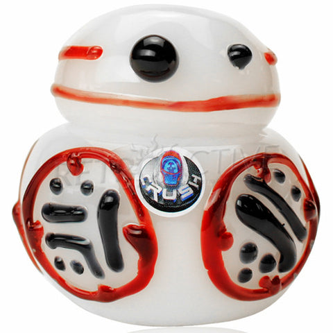 The Crush Glass BB-8 Star Wars Inspired Hand Pipe - Retro Active Smoke Shop  - 1