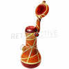 [product type] - (CLEARANCE) GlassEx Standing Sandblasted Heady Sherlock with Marble - Retro Active Smoke Shop