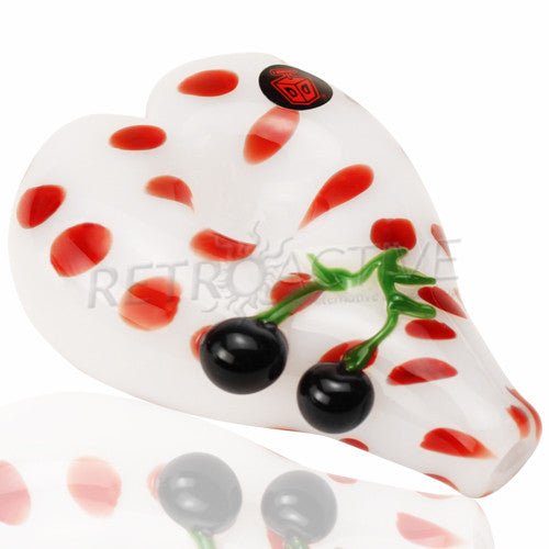 Dynomite Glass Heart Shaped Dotted Spoon Hand Pipe - Retro Active Smoke Shop  - 1
