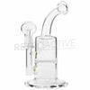 "RASS ""Honey Rig"" Bent Neck Honeycomb Oil Rig - Clear - Retro Active Smoke Shop  - 1"