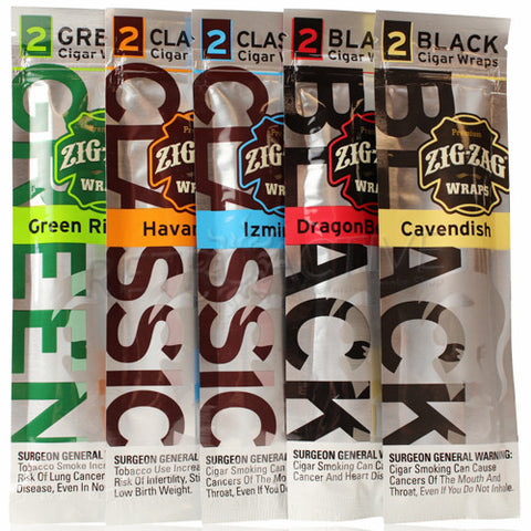 Zig Zag Flavored Blunt Cigar Wraps (2-Pack) - Retro Active Smoke Shop  - 1