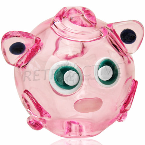 The Crush Glass Pokemon Jigglypuff Inspired Hand Pipe