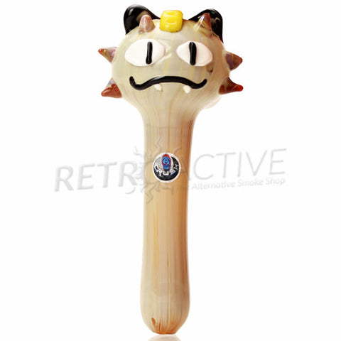 The Crush Glass Pokemon Meowth Inspired Hand Pipe