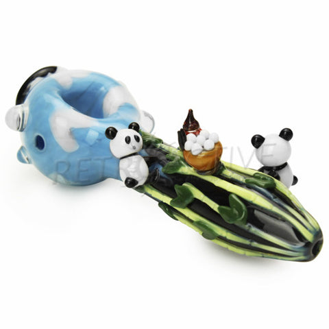 "Empire Glassworks Limited Edition ""Climbing Panda"" Hand Pipe"