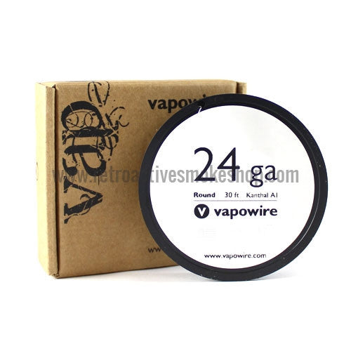 [product type] - (CLEARANCE) Vapowire Kanthal A-1 Wire 30' Spool - 24g - Retro Active Smoke Shop