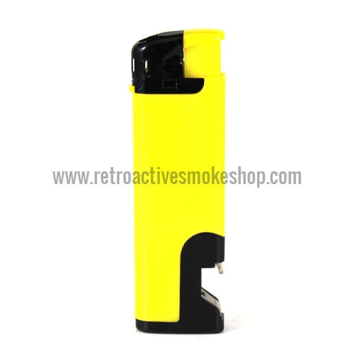 RASS Refillable Butane Bottle Opener Lighter - Yellow - Retro Active Smoke Shop