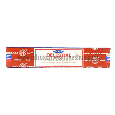 Satya Nag Champa Incense Sticks 15g Box - Celestial - Retro Active Smoke Shop