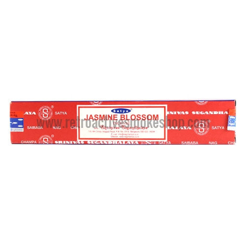Satya Nag Champa Incense Sticks 15g Box - Jasmine Blossom - Retro Active Smoke Shop