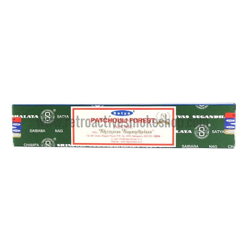 Satya Nag Champa Incense Sticks 15g Box - Patchouli Forest - Retro Active Smoke Shop