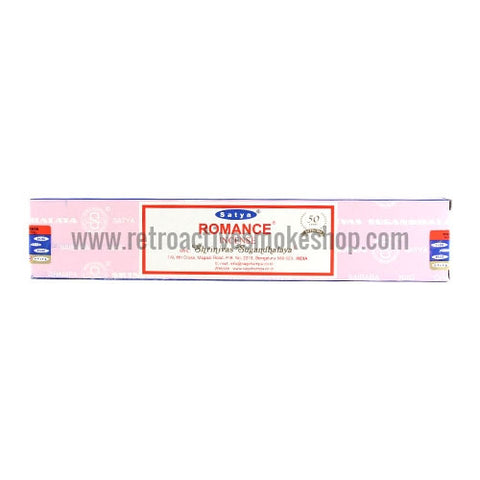 Satya Nag Champa Incense Sticks 15g Box - Romance - Retro Active Smoke Shop