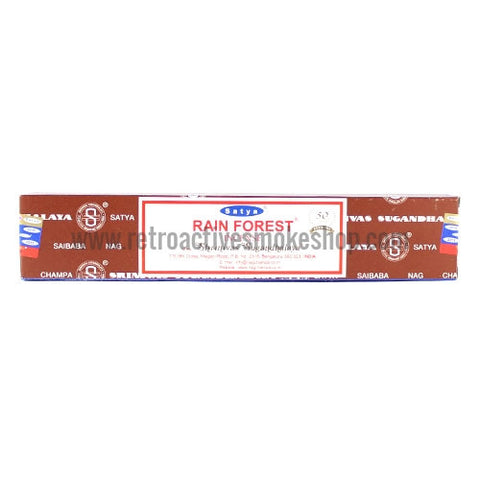 Satya Nag Champa Incense Sticks 15g Box - Rain Forest - Retro Active Smoke Shop
