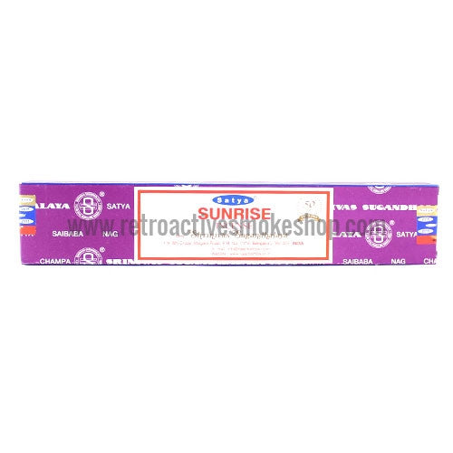 Satya Nag Champa Incense Sticks 15g Box - Sunrise - Retro Active Smoke Shop
