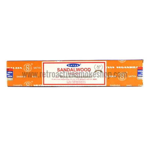 Satya Nag Champa Incense Sticks 15g Box - Sandalwood - Retro Active Smoke Shop