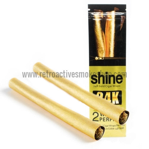 Shine 24K Gold Blunt Wraps - Retro Active Smoke Shop
