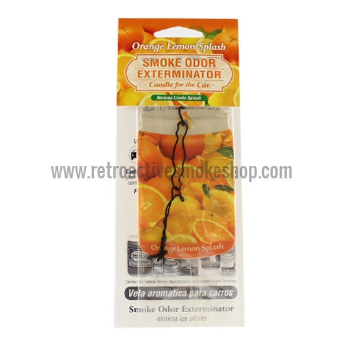 Smoke Odor Exterminator Car Air Freshener - Orange Lemon Splash - Retro Active Smoke Shop