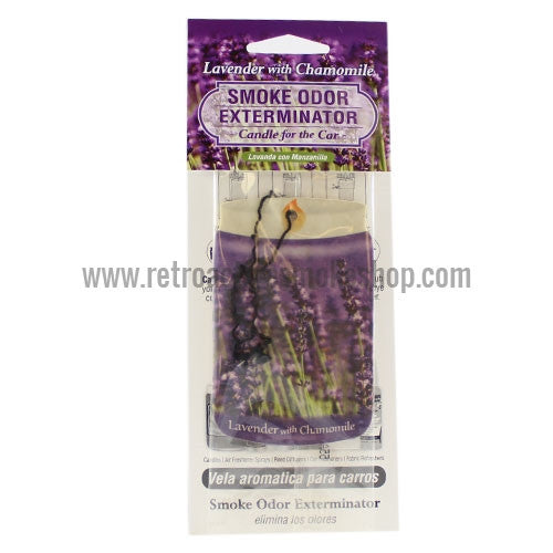 Smoke Odor Exterminator Car Air Freshener - Lavender with Chamomile - Retro Active Smoke Shop