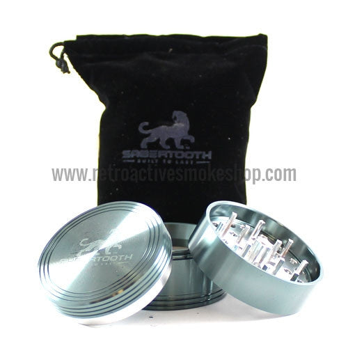 "Sabertooth Premium 2.2"" 4 Stage Grinder - Cyan - Retro Active Smoke Shop  - 1"