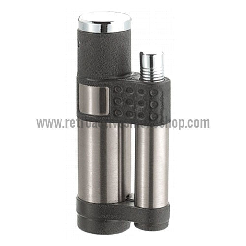 Vector Stratos Jet Torch Lighter - Black Crackle Matte - Retro Active Smoke Shop
