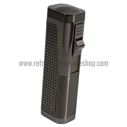 Vector Urbano Triple Jet Torch Lighter - Gunmetal Satin - Retro Active Smoke Shop