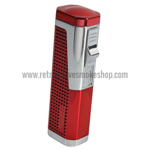 Vector Urbano Triple Jet Torch Lighter - Sparkle Burgundy - Retro Active Smoke Shop