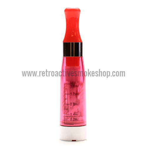 RASS eGo CE4 Clearomizer - Red - Retro Active Smoke Shop  - 1