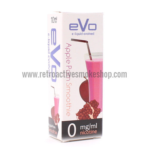 [product type] - (CLEARANCE) Evo Premium E-Liquid ApplePom Smoothie - 10ml - 0mg/ml - Retro Active Smoke Shop