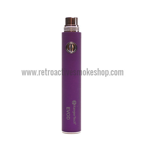 Kanger EVOD 650mAh Battery - Purple - Retro Active Smoke Shop