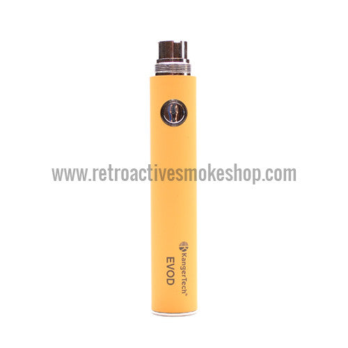 Kanger EVOD 650mAh Battery - Yellow - Retro Active Smoke Shop