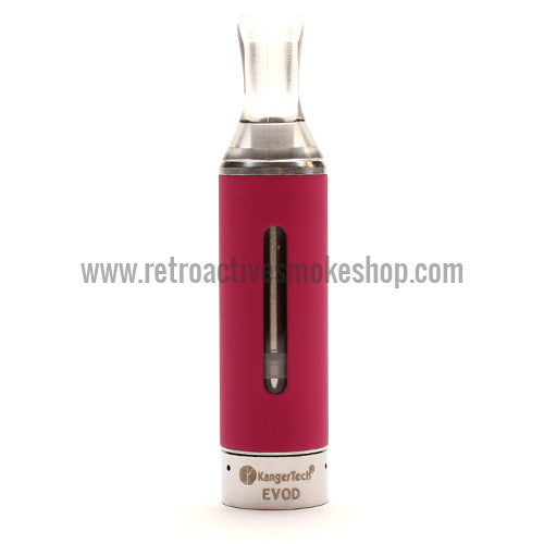 Kanger EVOD Bottom Coil Clearomizer - Pink - Retro Active Smoke Shop