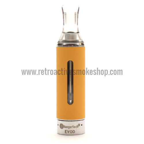 Kanger EVOD Bottom Coil Clearomizer - Yellow - Retro Active Smoke Shop