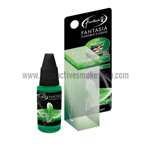 [product type] - (CLEARANCE) Fantasia Premium Hookah Nicotine Free E-Liquid 15ml - Ice Mint - Retro Active Smoke Shop