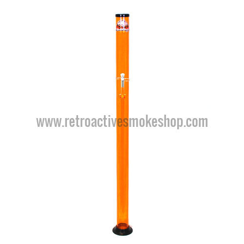 "Headway Tall Acrylic Waterpipes (36""-72"") - Orange - 4 Feet - Retro Active Smoke Shop"