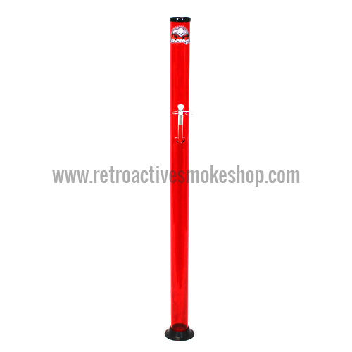 "Headway Big Boy 48"" (4 ft) Acrylic Waterpipe - Red - Retro Active Smoke Shop"