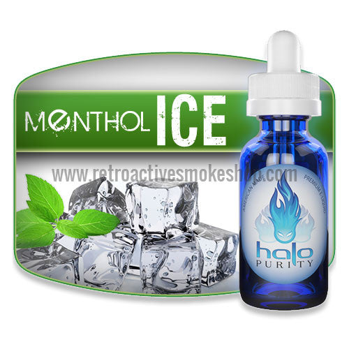 [product type] - (CLEARANCE) Halo Premium E-Liquid Menthol Ice - 7ml - 0mg/ml - Retro Active Smoke Shop