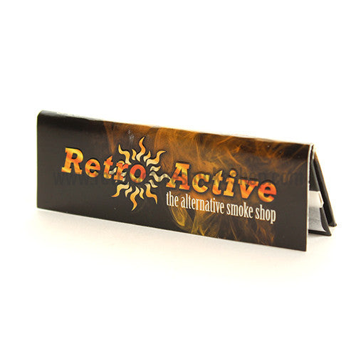 Retro Active 1 1/4 Thin Slow Burning Rolling Papers - Retro Active Smoke Shop  - 1