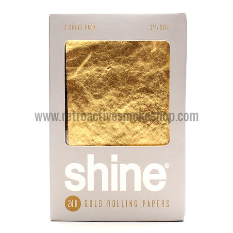 Shine 24K Gold 1 1/4 Rolling Papers - Retro Active Smoke Shop  - 1