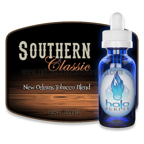 [product type] - (CLEARANCE) Halo Premium E-Liquid Southern Classic - 10ml - 0mg/ml - Retro Active Smoke Shop