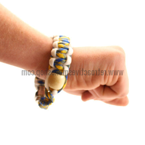[product type] - (CLEARANCE) RASS Discreet Stash Bracelet Pipe - Blue/Yellow - Retro Active Smoke Shop