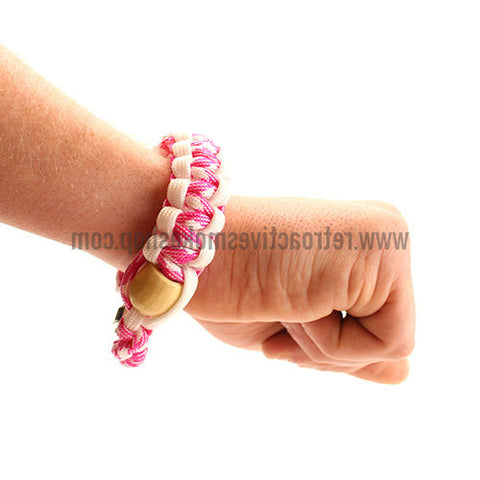 [product type] - (CLEARANCE) RASS Discreet Stash Bracelet Pipe - Pink - Retro Active Smoke Shop
