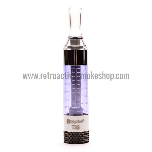 Kanger T3S Bottom Coil Clearomizer - Purple - Retro Active Smoke Shop
