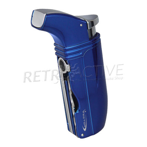 Vector Arsenal Jet Torch Lighter - Sparkle Blue - Retro Active Smoke Shop