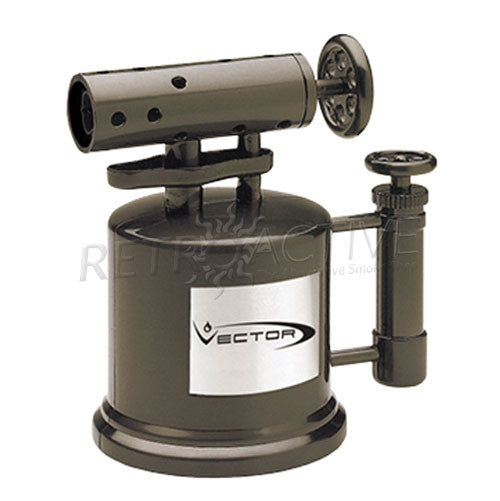 Vector Tabletop Mega Pump Torch Lighter - Gunmetal Satin - Retro Active Smoke Shop