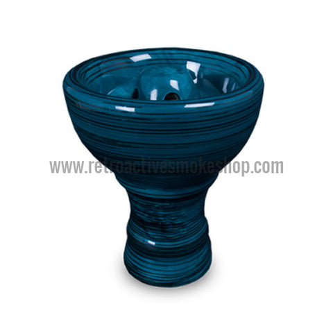 Sahara Smoke Vortex Hookah Bowl - Sapphire - Retro Active Smoke Shop