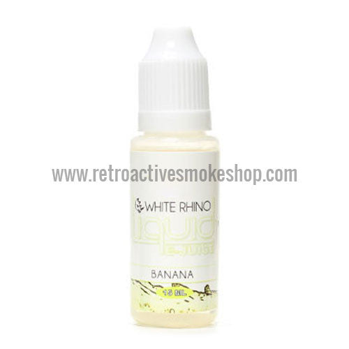[product type] - (CLEARANCE) White Rhino E-Liquid Banana - 15ml - 12mg/ml - Retro Active Smoke Shop